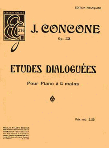 Etudes dialoguees Op.38