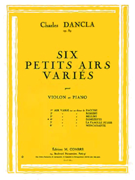 Air varie, No. 4 sur un theme de Donizetti Op.89