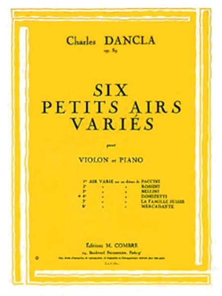 Air varie, No. 4 sur un theme de Donizetti Op.89