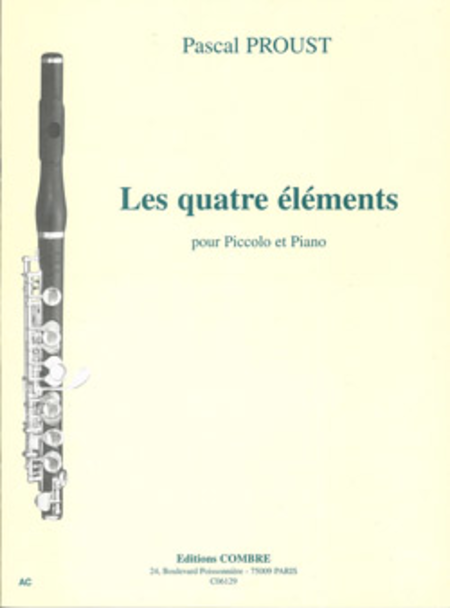 les quatre elements sheet music by pascal proust sheet music plus. Black Bedroom Furniture Sets. Home Design Ideas