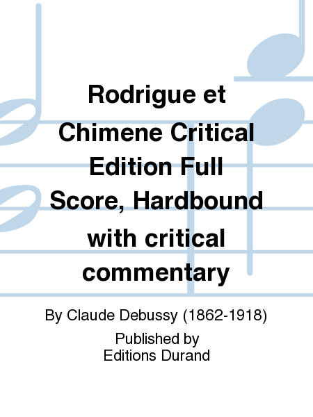 Rodrigue et Chimene Critical Edition Full Score, Hardbound with critical commentary
