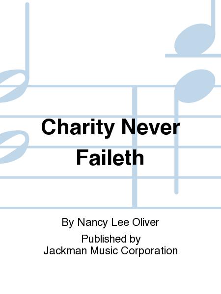 Charity Never Faileth