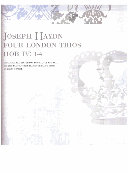 Four London Trios, HOB IV: 1-4