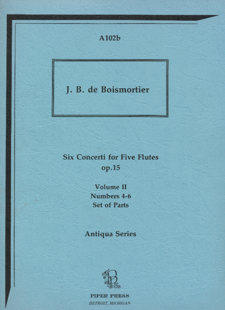 Six Concerti for Five Flutes (Set of parts)