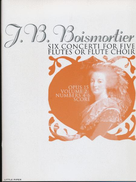 Six Concerti for Five Flutes (Score)