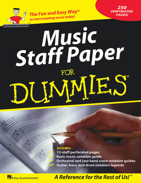 Music Staff Paper for Dummies