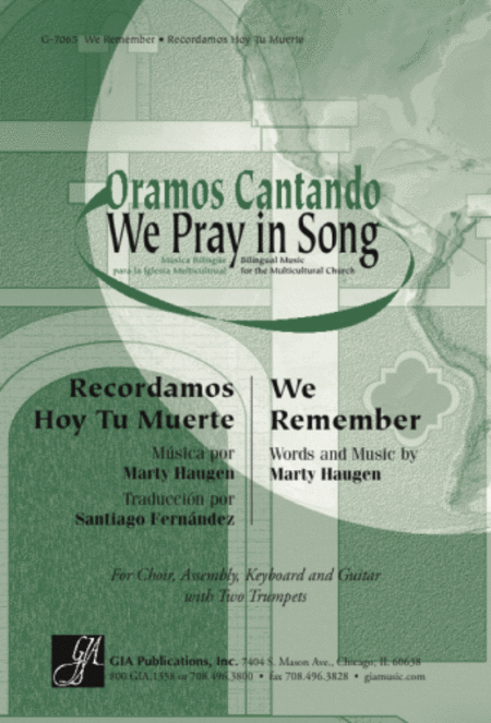 We Remember / Recordamos Hoy Tu Muerte - Guitar edition