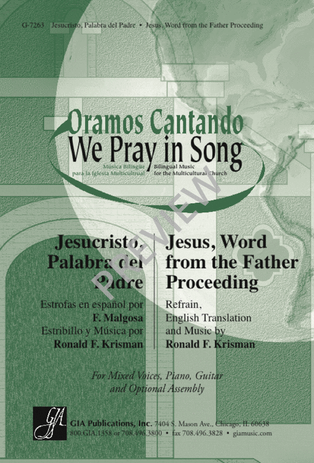 Jesucristo, Palabra del Padre / Jesus, Word from the Father Proceeding