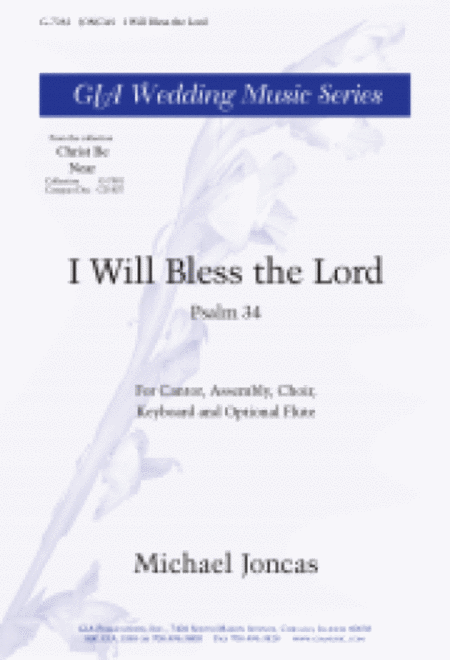 I Will Bless the Lord - Instrument edition