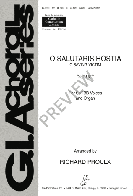O Salutaris Hostia / O Saving Victim