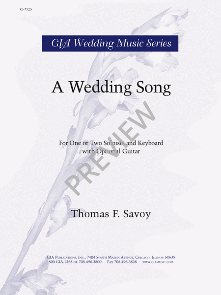 A Wedding Song