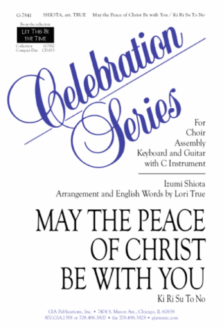 May the Peace of Christ Be with You - Instrument edition