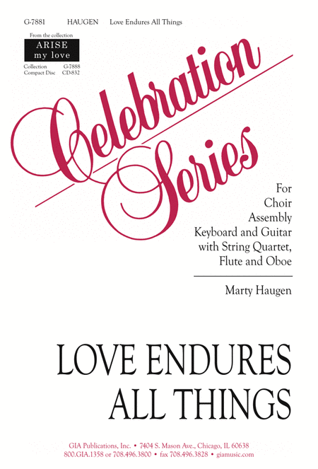 Love Endures All Things - Full Score and Parts