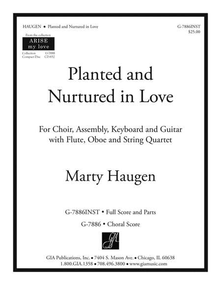 Planted and Nurtured in Love - Full Score and Parts