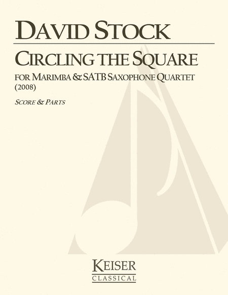 Circling the Square for Marimba and Saxophone Quartet