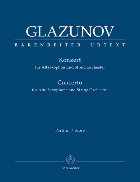 Concerto for Alto-Saxophone and String Orchestra E flat major op. 109