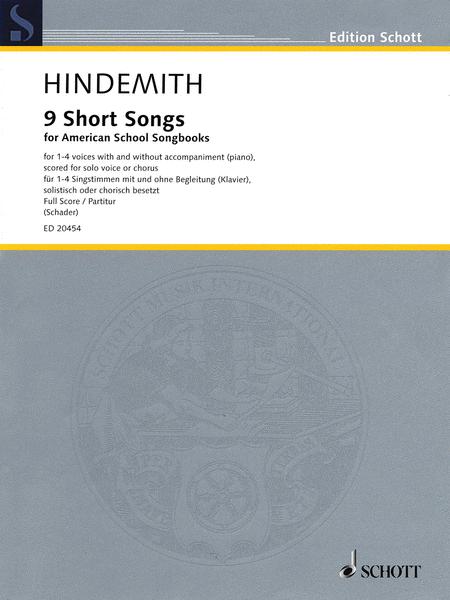 9 Short Songs For American School Songbooks