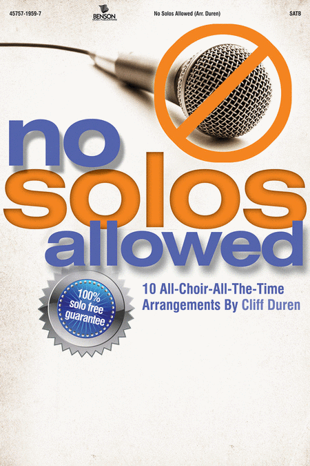 No Solos Allowed (CD Preview Pack)