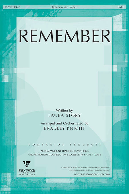 Remember (Split Track Accompaniment CD)