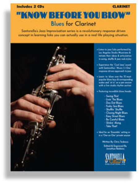 Know Before You Blow - Blues for Clarinet with 2 CDs
