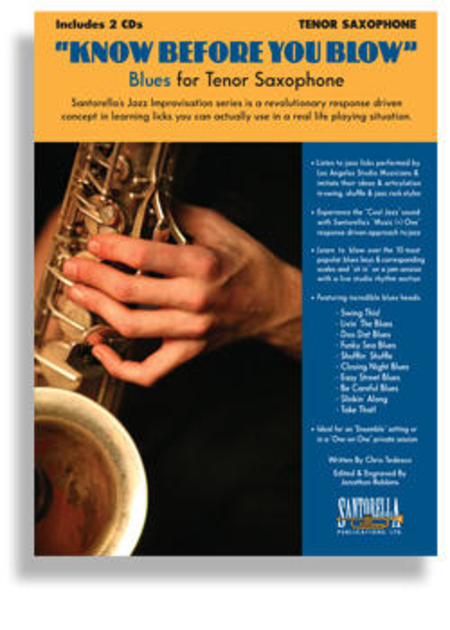 Know Before You Blow - Blues for Tenor Saxophone with 2 CDs