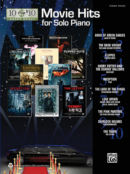 10 for 10 Sheet Music Movie Hits for Solo Piano