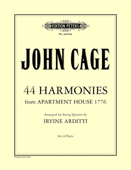 44 Harmonies from Apartment House 1776