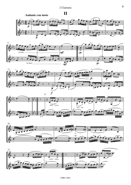 Duet for 2 Clarinets