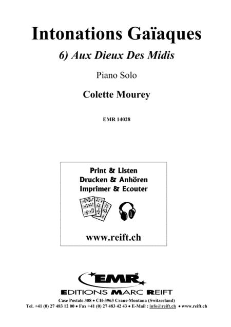 Intonations Gaiaques, Vol. 6: Aux Dieux Des Midis
