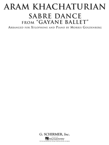 Sabre Dance from Gayane Ballet