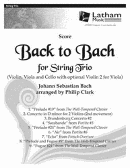 Back to Bach for String Trio - Score