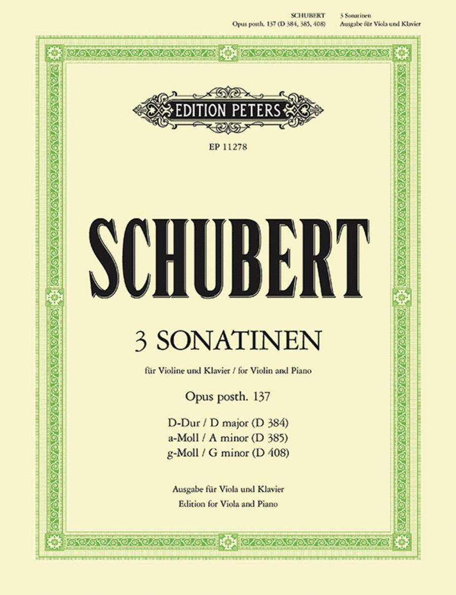 Sonatinas (3) Op. posth.137