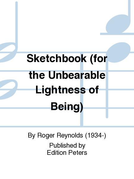 Sketchbook (for the Unbearable Lightness of Being)