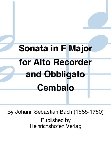 Sonata in F Major for Alto Recorder and Obbligato Cembalo