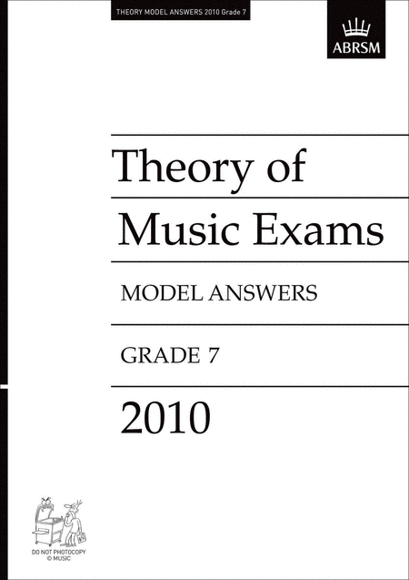Theory of Music Exams 2010 Gr7 Model Answers