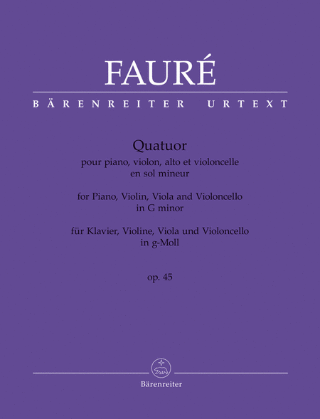Quatuor g minor op. 45
