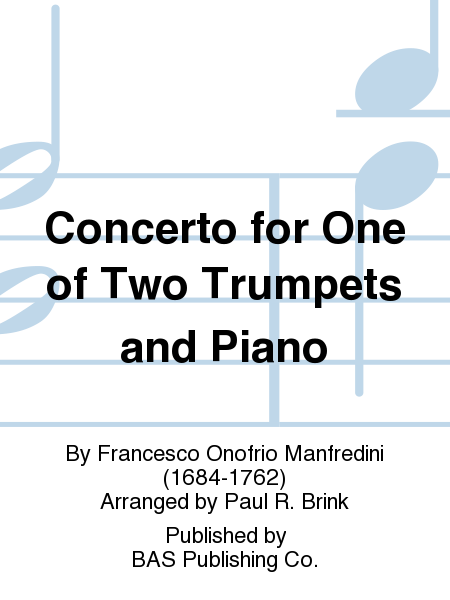 Concerto for One of Two Trumpets and Piano