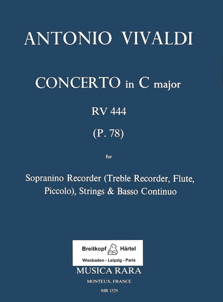 Concerto in C RV 444 fur Sopranino, Strings, Basso Continuo