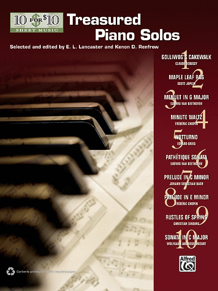 10 for 10 Sheet Music Treasured Piano Solos