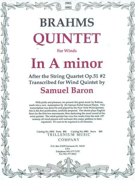 Quintet for winds in A minor