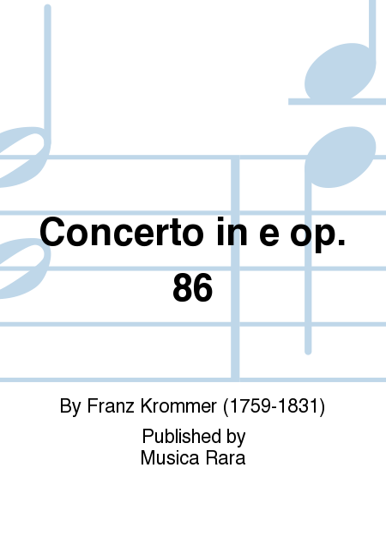 Concerto in e op. 86