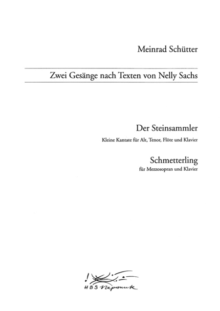 Zwei Gesange nach Nelly Sachs