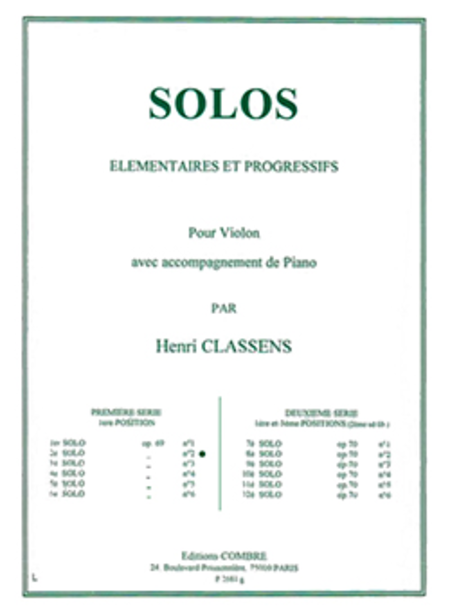 Solo elementaire et progressif no. 2 Op.69 no. 2