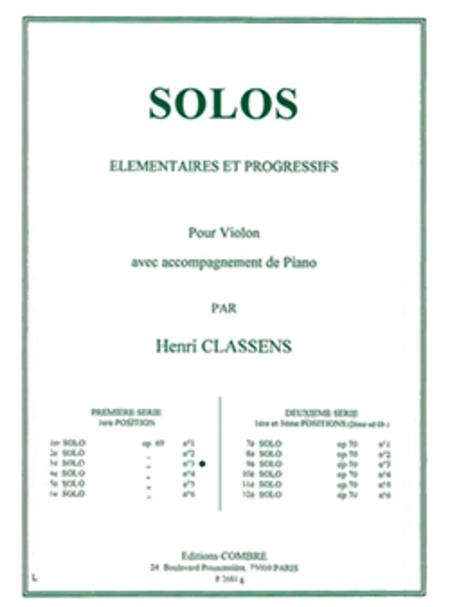 Solo No. 3 Op. 69 No. 3 (premiere serie)