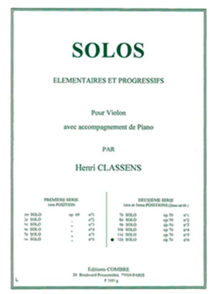 Solo elementaire et progressif no. 12 Op.70 no. 6