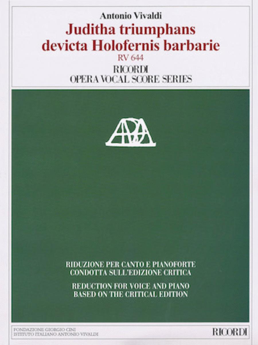 Juditha triumphans devicta Holofernis barbarie, RV 644