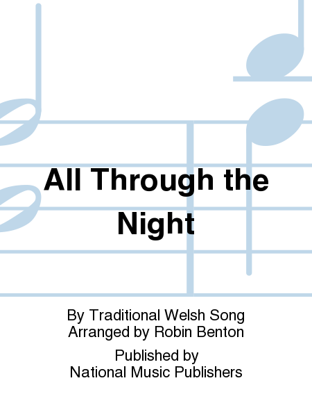 Through the night sheet music by traditional welsh song sheet music
