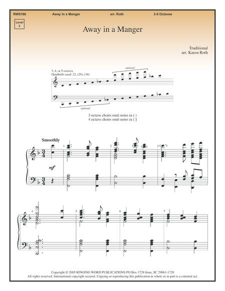 away in a manger sheet music pdf