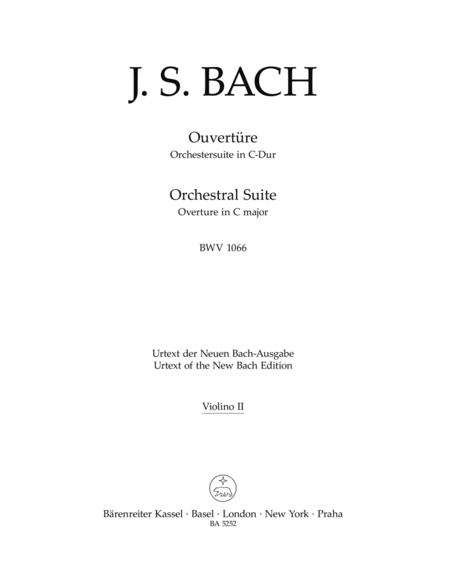 Ouverture (Orchestersuite) C major BWV 1066