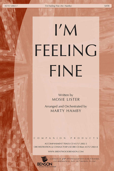 I'm Feeling Fine (Split Track Accompaniment CD)
